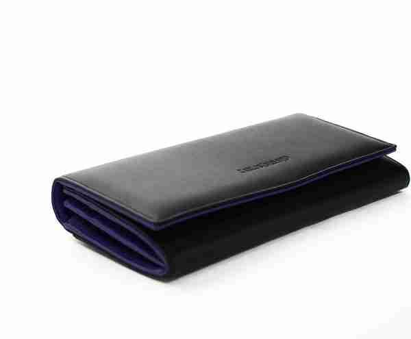 naranjo ubrique cartera lisa negro y purpura