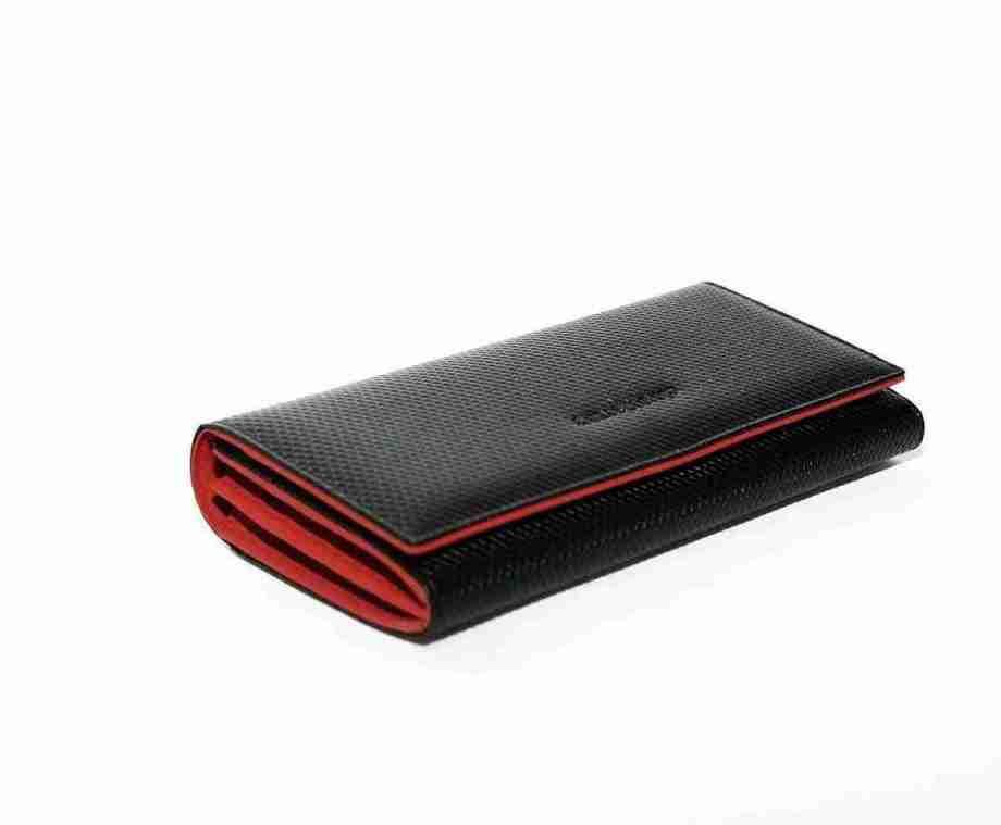 naranjo ubrique cartera red negro y rojo