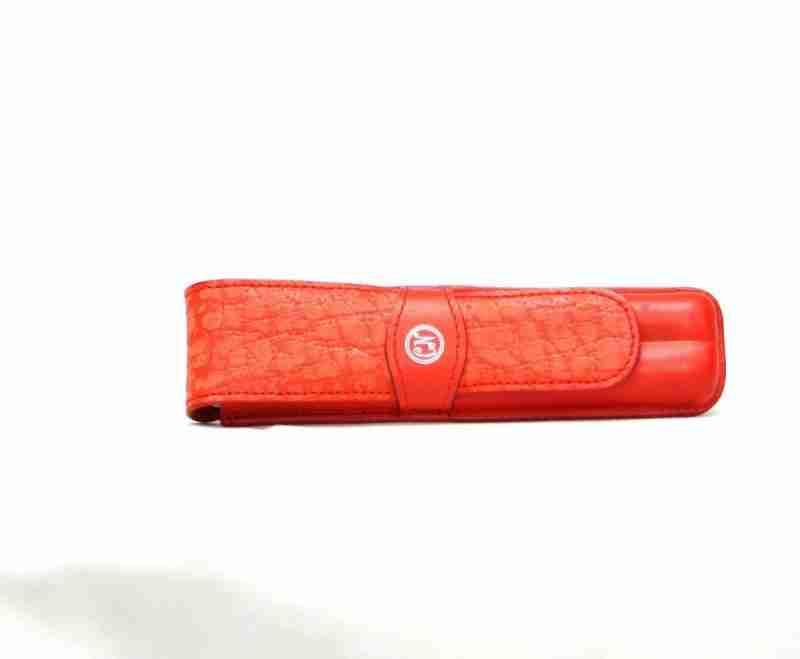 funda de bolígrafos piel naranja- naranjo ubrique