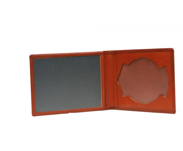 porta placas marron 1- naranjo ubrique