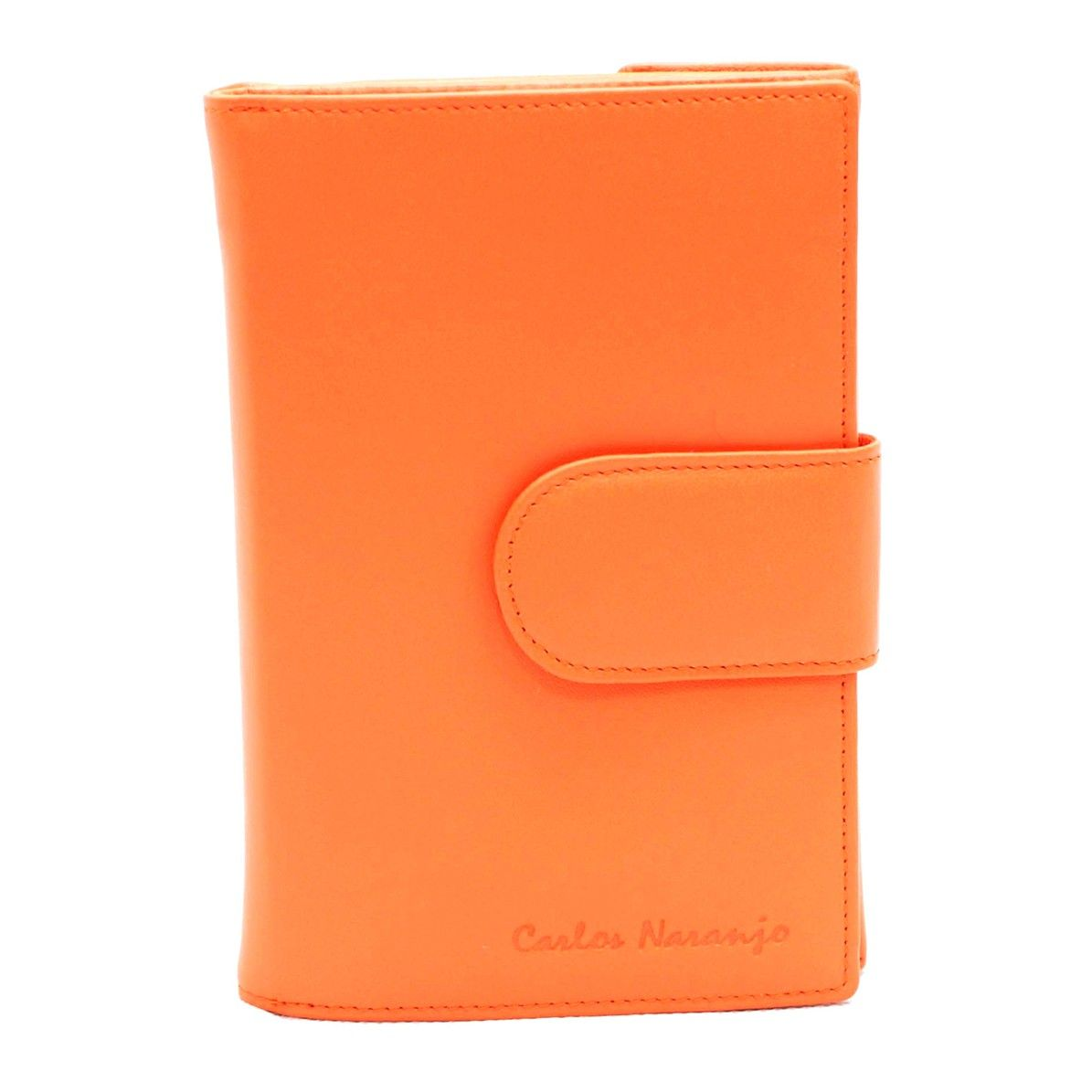 billetero piel napa naranja- naranjo ubrique