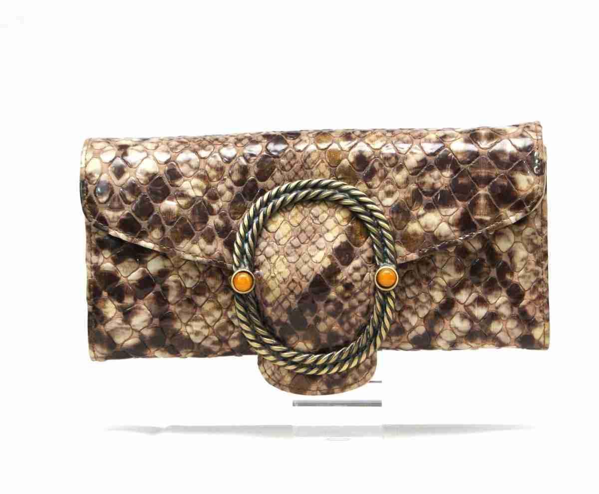 carteras piel inspiraciones serpiente plata- naranjo ubrique