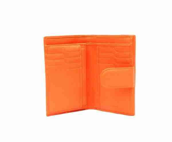 billetero piel napa naranja 1- naranjo ubrique