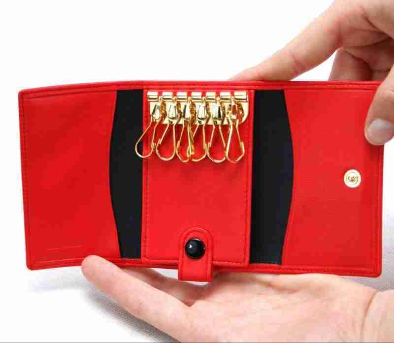 porta llaves de piel 1- naranjo ubrique