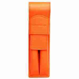porta lapices de napa naranja- naranjo ubrique