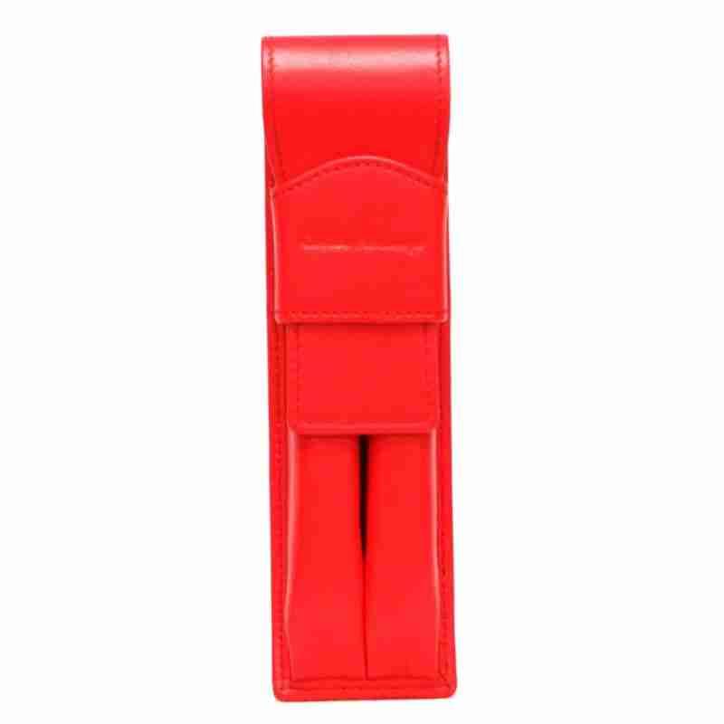 porta lapices de napa rojo- naranjo ubrique