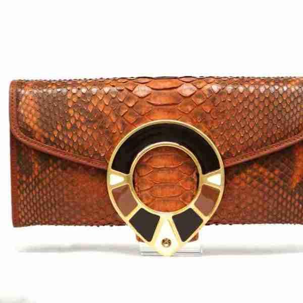 carteras piel inspiraciones serpiente dorado- naranjo ubrique