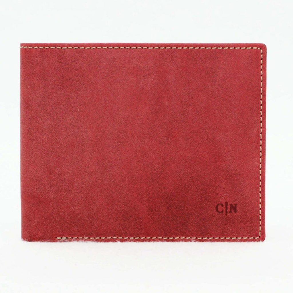 cartera de piel beta rojo- naranjo ubrique