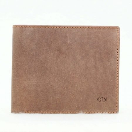 cartera monedero beta marron- naranjo ubrique
